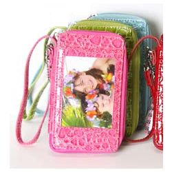 Pink Photo Frame Wristlet Wallet