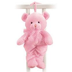Pink Pull String Musical Teddy Bear