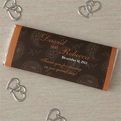 Personalized Wedding Favor Candy Bar Wrappers