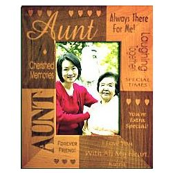Personalized Aunt Frame From One Child