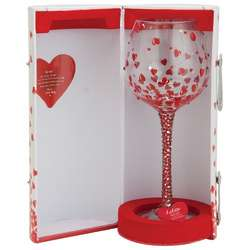 Red Hot Bling Wine Glass
