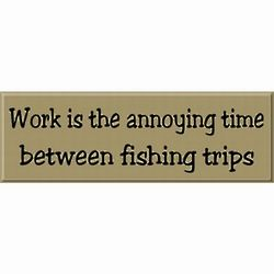Time Between Fishing Trips Sign