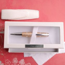 Personalized Swarovski Crystal Champagne Glitz Pen