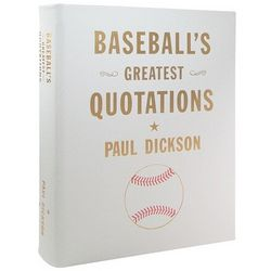 Baseball's Greatest Quotations Leather Bound Coffee Table Book