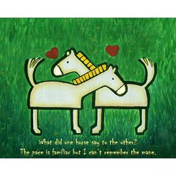 Familiar Horses Personalized Art Print