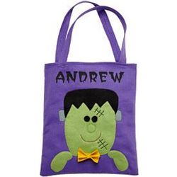 Personalized Frankenstein Halloween Tote Bag