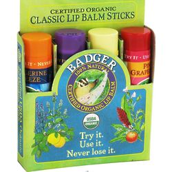 Certified Organic Classic Lip Balm Variety Pack