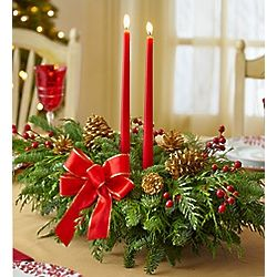 Grand Holiday Evergreen Centerpiece