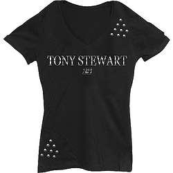 Lady's NASCAR Tony Stewart #14 Studs T-Shirt