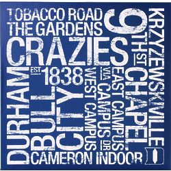 Duke Blue Devils Square Subway Art Canvas