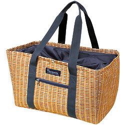 Faux Wicker Picnic Basket Cooler