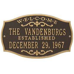 "14"" Brookfield Welcome Anniversary Address Plaque"