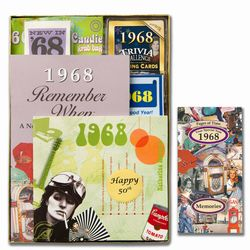 Personalized 50th Birthday Time Capsule Box for 1968