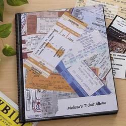 Personalized Ticket Stub Scrapbook Album