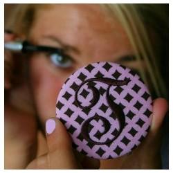 Monogrammed Button Purse Mirror