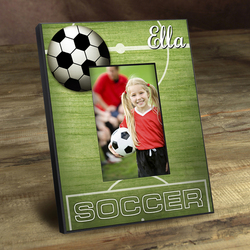 Personalized Kids Soccer Picture Frame