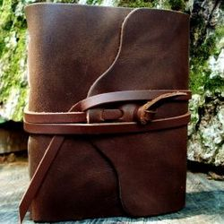Compact Leather Pocket Journal