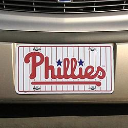 Philadelphia Phillies White Metal License Plate