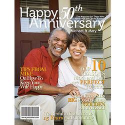 50th Anniversary Personalized Magazine Cover