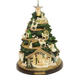 Lighted Irish Nativity Tree Ornament