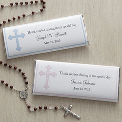 Personalized Holy Cross Candy Bar Wrappers