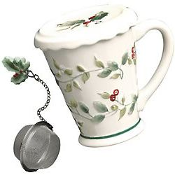 Winterberry Covered Mug with Infuser