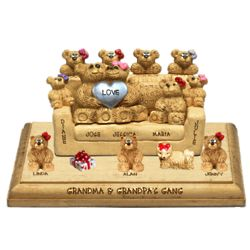 Anniversary Figurine for Couples with up to 12 Kids