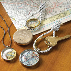 Personalized Map Pendant