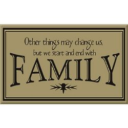 Family Start and End Sign
