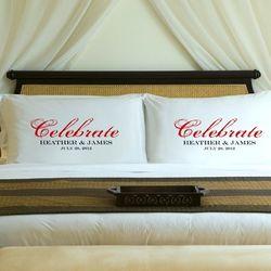 Celebration Personalized Couples Pillow Case