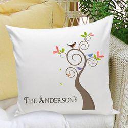 Family Name Personalized Throw Pillow