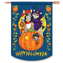 Charming Tails Happy Halloween Flag