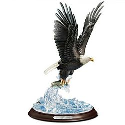 An Eagle's Sovereign Strike Sculpture