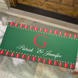 Christmas Spirit Personalized Oversized Doormat