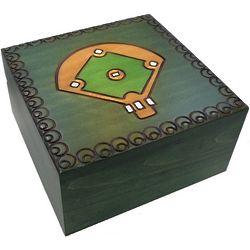Baseball Field Secret Wooden Puzzle Box