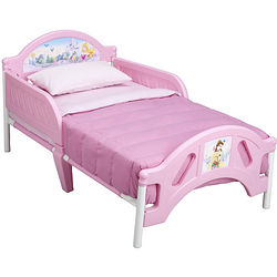 Disney Princess Castle Scene Toddler Bed