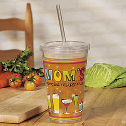 Mom's Printed Tumbler with Straw