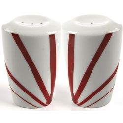 Pure Red China Salt and Pepper Set