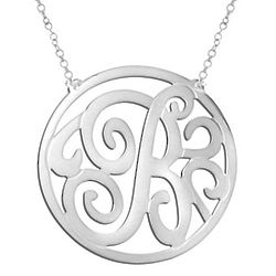 Personalized Stunning Monogram Necklace in Sterling Silver