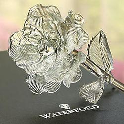 Waterford Crystal Rose Figurine