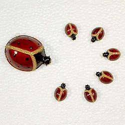 Faberge Ladybug Magnetic Note Holders