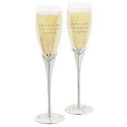 Everlasting Love Champagne Flutes