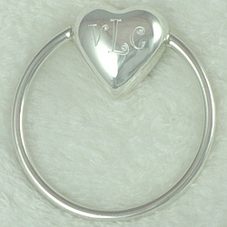 Monogrammed Sterling Silver Baby Rattle