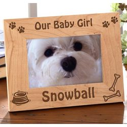 A Puppy Pose Personalized Photo Frame