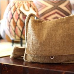 Natural Hemp Messenger Bag
