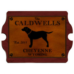 Personalized Labrador Vintage Pub Sign
