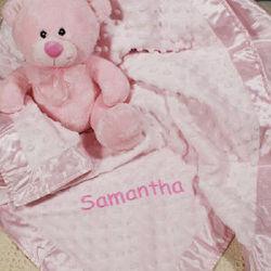 Personalized Cuddle Baby Fleece Blanket