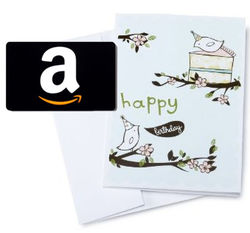 Birthday Birds Amazon.com Gift Card
