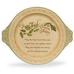Irish Christmas Blessing Platter
