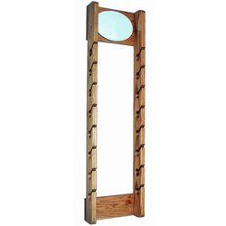 Double Wooden Cap Rack with Mirror